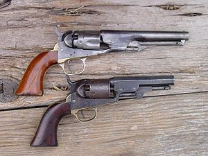 Colt Pocket Percussion Revolvers - Original Pocket Police (above) and Pocket Model of 1849