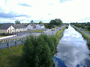 Pollagh - The Street, Pollagh View of canal through Pollagh taken from Plunkett Bridge