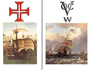 Dutch–Portuguese War - Image: Portuguese Armada vs Dutch Chartered Fleets
