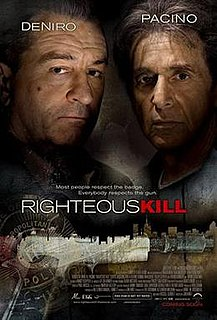<i>Righteous Kill</i> 2008 American buddy cop crime thriller film by directed by Jon Avnet