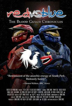 Red vs. Blue - The official poster for The Blood Gulch Chronicles.