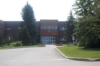 Grenfell Campus - A view of the Grenfell campus in 2005.  The location of this photograph is the site of the new Arts and Science Atrium.