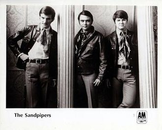 The Sandpipers - 1966 publicity photo.  L-R Mike Piano, Richard Shoff, Jim Brady