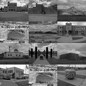 Gallup, New Mexico - Image: Sights of Gallup BW