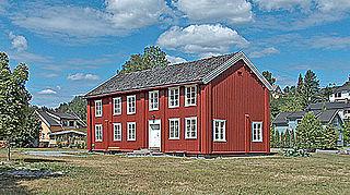 Skotselv Village in Østlandet, Norway