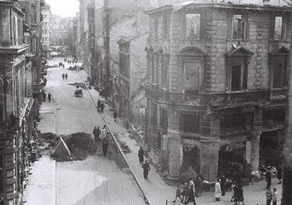 History of Sofia - Destruction in Sofia in 1944 after the bombing as photographed by Tsanko Lavrenov