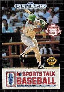 <i>Sports Talk Baseball</i> 1991 video game