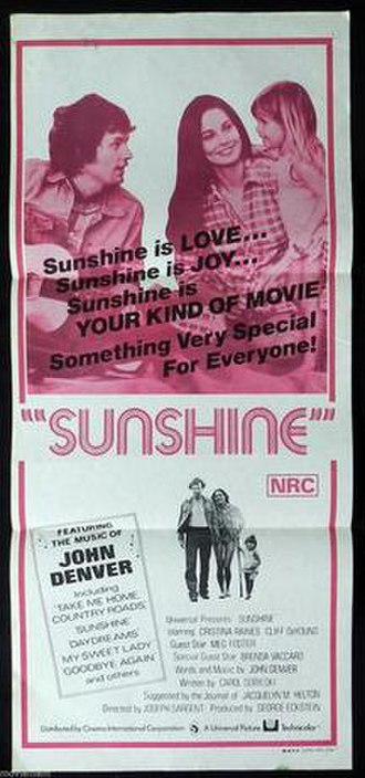Sunshine (1973 film) - Official release poster