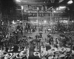Wire mill, 1913. National Archives of Canada