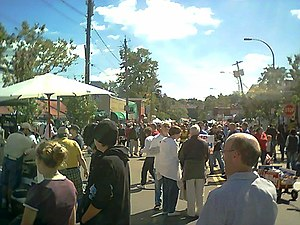 Westcott, Syracuse - Westcott Street during the annual Westcott Street Cultural Fair in September 2004