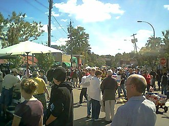 Westcott, Syracuse, New York - Westcott Street during the annual Westcott Street Cultural Fair in September 2004