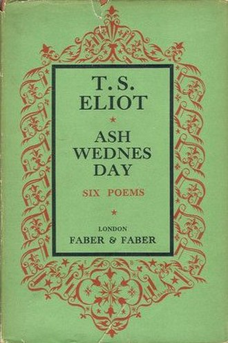 Ash Wednesday (poem) - First edition (publ. Faber & Faber)