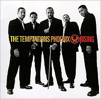 The album cover to the 1998 album Pheonix Rising. Pictured left to right: Terry Weeks, Barrington Henderson, Otis Williams, Ron Tyson, Harry McGilberry.