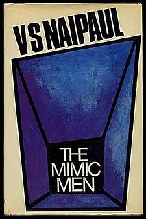 <i>The Mimic Men</i> book by V.S. Naipaul