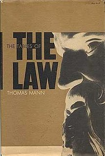 <i>The Tables of the Law</i> novel by Thomas Mann