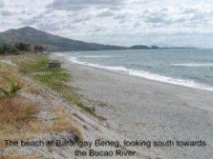 Botolan - The beach at Barangay Beneg, looking south towards the Bucao River