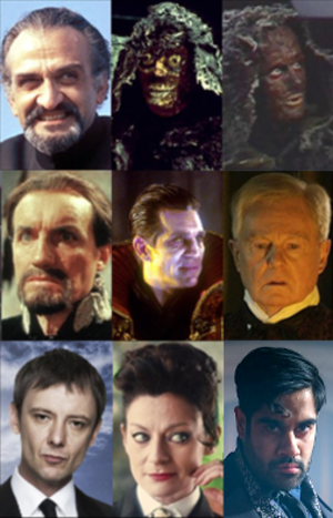 The Master (Doctor Who) - Image: Versions of the Master