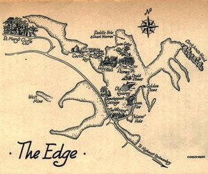 The Weirdstone of Brisingamen - Map of The Edge drawn by Charles Green to illustrate the book.
