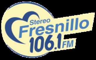 XHRRA-FM - Image: XHRRA Stereo Fresnillo 106.1 logo