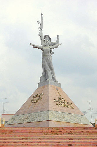 Battle of Xuân Lộc - The Xuan Loc victory monument dedicated to the Vietnam People's Army, in Đồng Nai Province