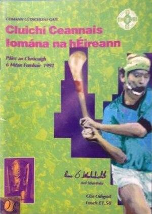 1992 All-Ireland Senior Hurling Championship Final - Image: 1992 All Ireland Senior Hurling Championship Final