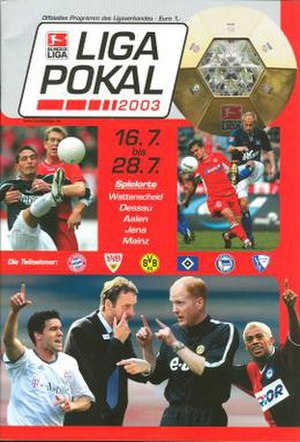 2003 DFB-Ligapokal - Tournament programme cover
