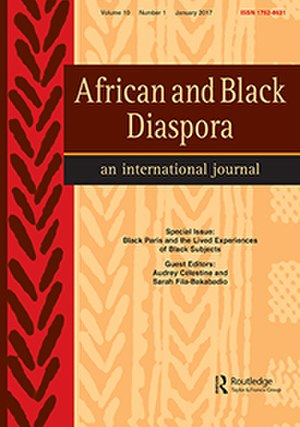 African and Black Diaspora - Image: 2016 cover African and Black Diaspora