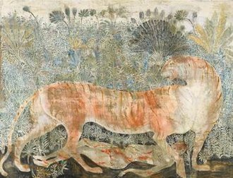 "Man-Eaters of Kumaon - ""Man-Eater of Kumaon"", 2005 painting by Merab Abramishvili."