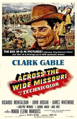 Across the Wide Missouri (film) - Theatrical release poster