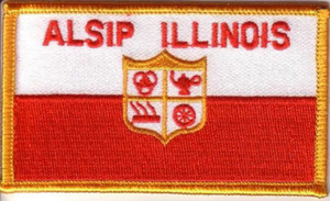 Alsip, Illinois - The municipal logo for the Village of Alsip; it denotes the importance of industry and education, as well as transportation and community unity.