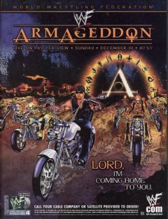 Armageddon (2000) - Promotional poster showing The Undertaker