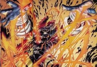Ash (comics) - Ash as seen in Azrael vs. Ash (1997)