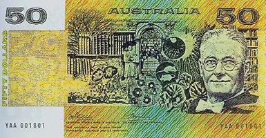 Australian $50 note paper front