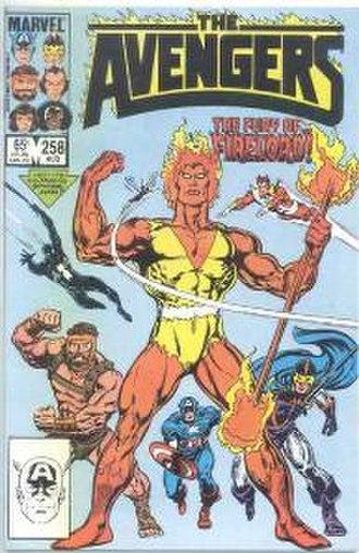 Firelord (comics) - Image: Avengers 258