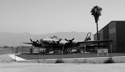 The museum's B-17, Piccadilly Lilly II, currently undergoing restoration to flight capability. - Planes of Fame Air Museum