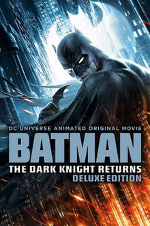 Cover of the deluxe DVD Edition shows Batman, in his traditional Batsuit, with the film's title and billing below him.