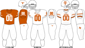 2009 Texas Longhorns football team - Image: Big 12 Uniform UT 2009