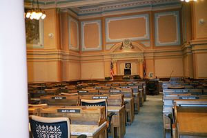 Wyoming State Capitol - Image: Cheyenne capitol inside 1