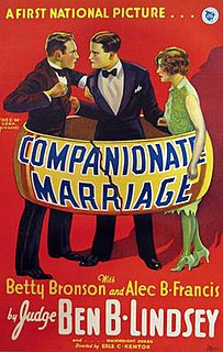 <i>Companionate Marriage</i> 1928 film by Erle C. Kenton, Harold Shumate