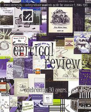 Critical Review (Brown University) - Image: Critical Review (Brown) 30th anniversary cover