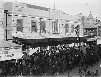 City of Auburn - The opening of the second Auburn Town Hall, Auburn Road, 12 July 1927.