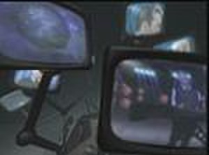 Blue (Da Ba Dee) - Eiffel 65 on television screens during the opening segment of the video.