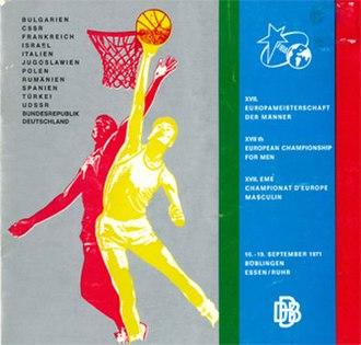 EuroBasket 1971 - Image: Euro Basket 1971 logo