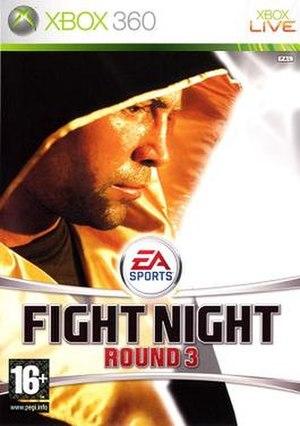 Fight Night Round 3 - Xbox 360 cover art featuring Oscar De La Hoya