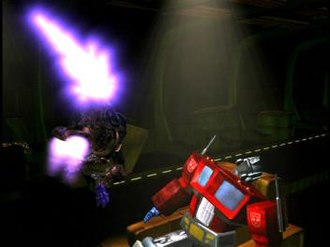 Transformers - Beast Wars Megatron attacks Optimus Prime in a clash of generations.
