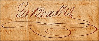 George Beattie (poet) - Signature of George Beattie