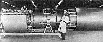 General Electric GE4 - A mock-up of the GE4/J5 single-shaft afterburning turbojet