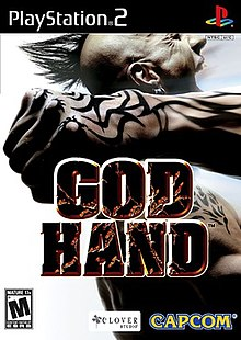 God Hand (2006 Playstation 2) video game cover art.jpg