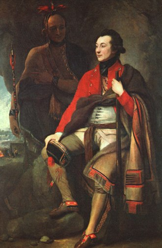 Invasion of Quebec (1775) - This painting by Benjamin West is usually identified as a portrait of Guy Johnson, although a recent biography of Sir William Johnson claims that it actually depicts Sir William, Guy's uncle.