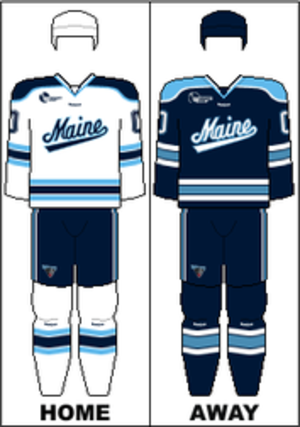 Maine Black Bears men's ice hockey - Image: HE Uniform U Maine